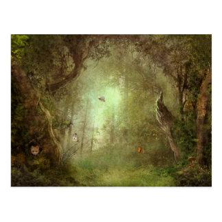 Versteckte Fox-Waldungs-Postkarte Postkarte