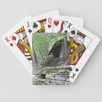 Versteckte Kabine im Holz Spielkarten