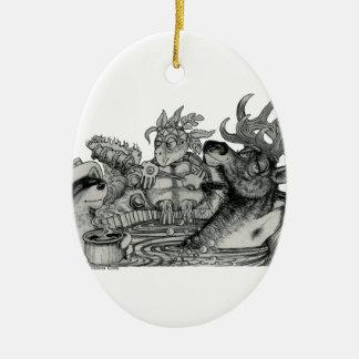 Versteckte Suhle-heiße Wanne Ovales Keramik Ornament