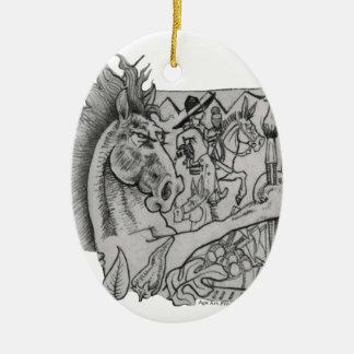 Versteckte Suhle Ringo das Pferd Keramik Ornament