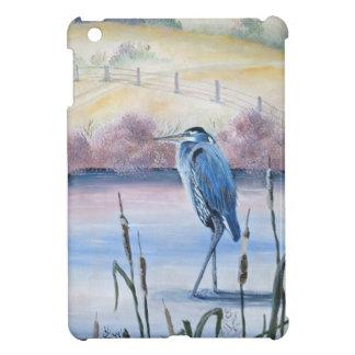 Versteckte Tal-blauer Reiher-Pastellacrylkunst iPad Mini Hülle