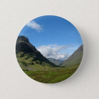 Verstecktes Tal Glencoe Schottland Runder Button 5,1 Cm