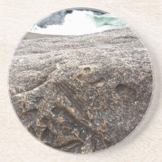 Versteinerter Felsen Sandstein Untersetzer