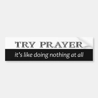 Versuch-Gebet Autoaufkleber