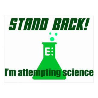 Versuch von Wissenschaft Postkarte