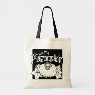 Versuchen Sie ein Pugmpkin! Taschen-Tasche Tragetasche