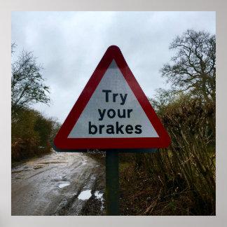 Versuchen Sie Ihr Bruch-Warnzeichen-Plakat Poster