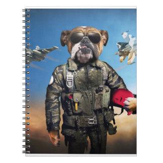 Versuchshund, lustige Bulldogge, Bulldogge Notizblock
