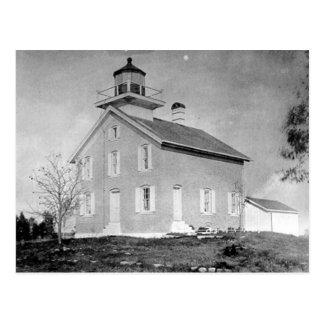 Versuchsinsel-Leuchtturm Postkarte