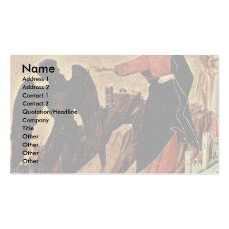Versuchung von Christus auf dem Berg Visitenkarten Vorlagen