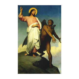 Versuchung von Christus Galerie Gefaltete Leinwand