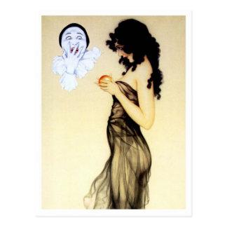 Versuchung - von der des Pierrots Liebe-Reihe Postkarte