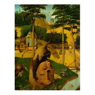 Versuchung von St Anthony, 1490 Postkarte