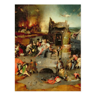 Versuchung von St Anthony Postkarte