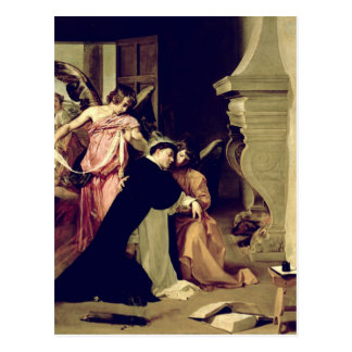 Versuchung von St Thomas Thomas von Aquin Postkarte