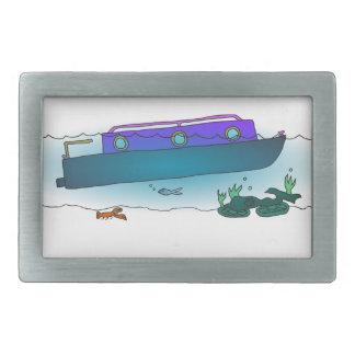 Versunkenes Narrowboat Rechteckige Gürtelschnallen