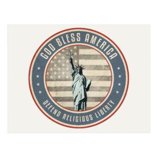 Verteidigen Sie Religionsfreiheit Postkarte