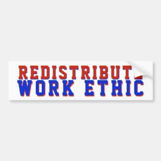 Verteilen Sie Arbeits-Ethik politischen GOP neu Autoaufkleber