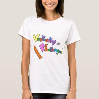 vertikal angefochten T-Shirt