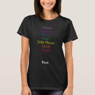 Vertikale Chakra Wörter T-Shirt