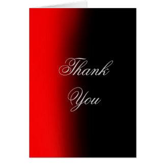 Vertikale danken Ihnen rote schwarze Karte