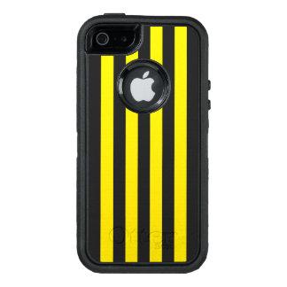 Vertikale gelbe Streifen OtterBox iPhone 5/5s/SE Hülle