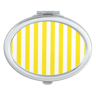Vertikale gelbe Streifen Taschenspiegel