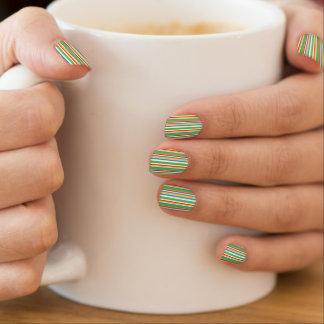 Vertikale gestreifte Druck-Nagel-Kunst Minx Nagelkunst