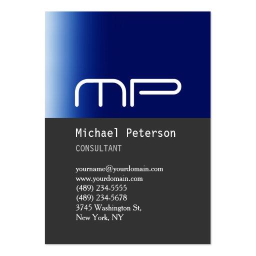 Vertikale graue blauer visitenkarten vorlage