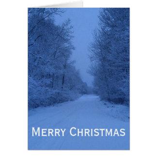 Vertikale Holz-Weihnachtskarte -- Christlich Karte