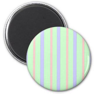 Vertikale Pastellstreifen Runder Magnet 5,1 Cm