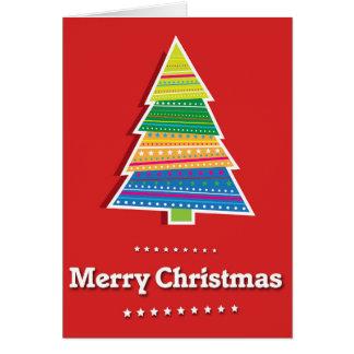 vertikale rote Grußkarte der frohen Weihnachten