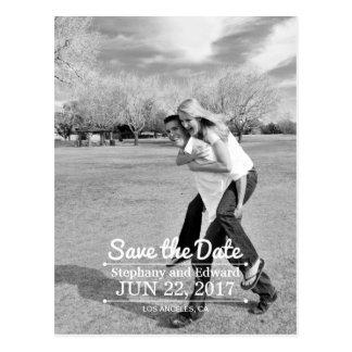 Vertikale-Save the Date kundenspezifische Postkarte
