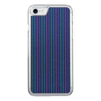 Vertikale Streifen-blaues Grün lila Carved iPhone 7 Hülle