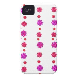 Vertikale Streifen-Blumenmuster-Collage Case-Mate iPhone 4 Hülle