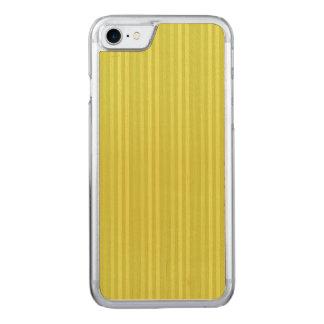 Vertikale Streifen-Chartreuse Gelbgrün Carved iPhone 7 Hülle