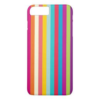 Vertikale Streifen in den Sommer-Farben iPhone 8 Plus/7 Plus Hülle