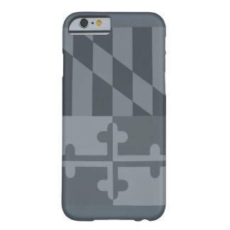 (Vertikaler) Telefonkasten Maryland-Flagge - Grau Barely There iPhone 6 Hülle