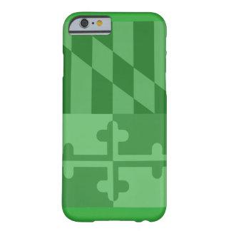 (Vertikaler) Telefonkasten Maryland-Flagge - Grün Barely There iPhone 6 Hülle