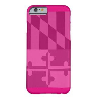 (Vertikaler) Telefonkasten Maryland-Flagge - Pink Barely There iPhone 6 Hülle