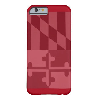 (Vertikaler) Telefonkasten Maryland-Flagge - Rot Barely There iPhone 6 Hülle