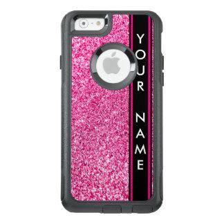Vertikales Bar fertigte Glitter-rosa Hintergrund OtterBox iPhone 6/6s Hülle
