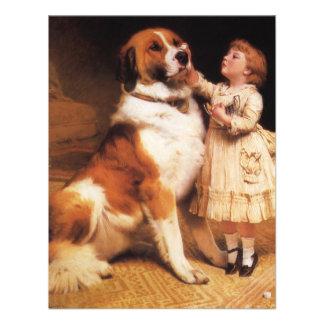 Vertrauen Bernhardiner durch Friseur Charless Ankündigungskarte