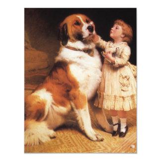 Vertrauen (Bernhardiner) durch Friseur Charless Ankündigungskarte