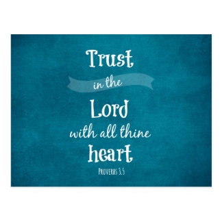 Vertrauen im Lord Bible Verse Postkarte