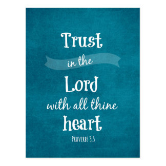Vertrauen im Lord Bible Verse Postkarten