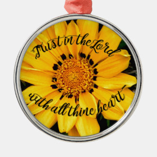 Vertrauen im Lord Bright Yellow Flower Silbernes Ornament