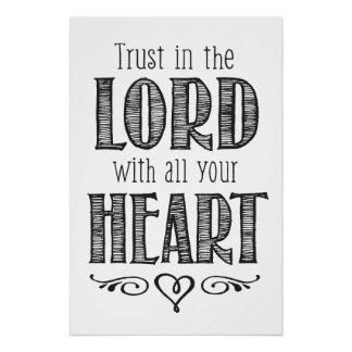 Vertrauen im Lord mit Ihrem ganzem Poster