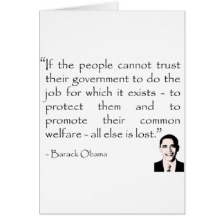 Vertrauen in der Regierung, Barack Obama Karte
