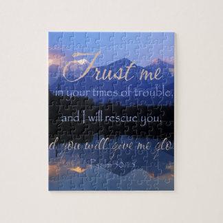 Vertrauen in mir zuzeiten des Problem-Psalm-50:15 Puzzle